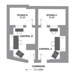 Studios C+D Floor Plan